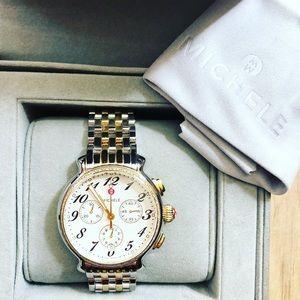 MICHELE fluette two-tone watch!